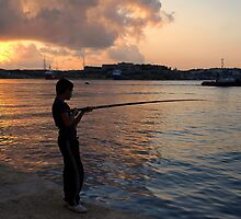 Harbour Fishing by Anthony Vella