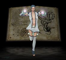 May .. Witch with book of spells by LoneAngel