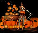 October .. A  Witch with pumpkins by LoneAngel