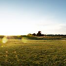 Knowlton Church Panorama by bubblebat