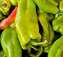 Banana Peppers by Jeffrey  Sinnock