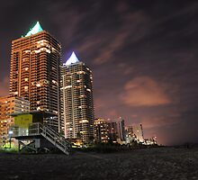 Miami Beach at night by keystime42