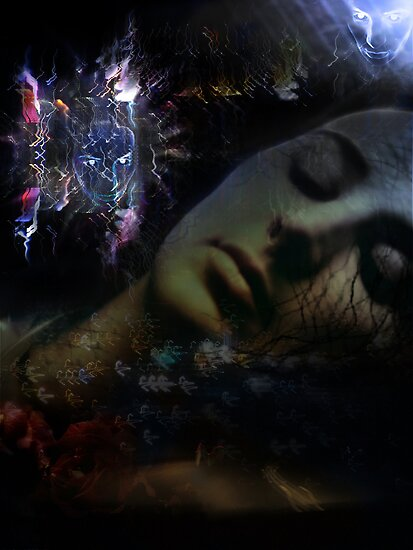 Astral Travelling From My Bed Of Roses by Kathleen Cameron