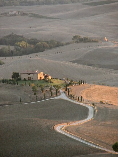 Tuscan Farmland in late summer by Jaycee2009