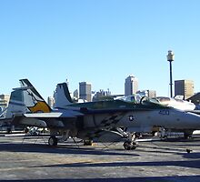 Fighter Jet USS Kitty Hawk Sydney by artisticpurple