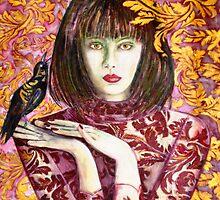 "Raven Girl Wins - STOLEN!! by Belinda ""BillyLee"" NYE (Printmaker)"