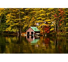 The Boat House-Lake Paradox Photographic Print