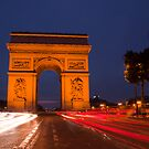 Traffic at Arc de Tiromphe by Richard Keech