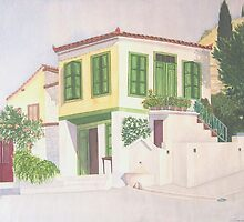 Ano Ayios, Michali's house, Samos, Greece by JANET SUMMERS