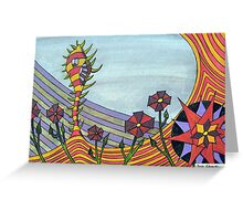277 - FLORAL DESIGN - 06 - DAVE EDWARDS - MIXED MEDIA - 2009 Greeting Card
