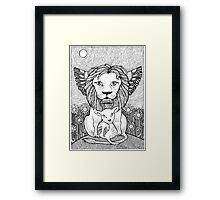 And So The Lion Fell in Love with The Lamb Framed Print