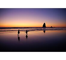 When the sun goes down the rock spirits play Photographic Print