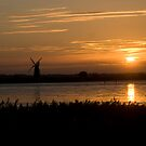 Windmill sunset! by Carole Stevens