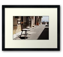 What Is It With Chairs And Sicilians Framed Print