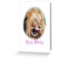 lion happy birthday card Greeting Card