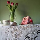 Cake and Tulips by ShutterlyPrfct