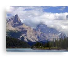 Two Peaks-Maligne Lake Metal Print