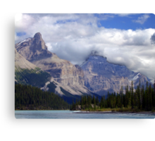 Two Peaks-Maligne Lake Canvas Print