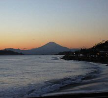 Fuji-san At Dusk by J J  Everson