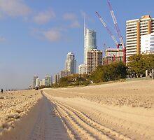 Beach sand imprint Surfers Paradise Australia by Dave P