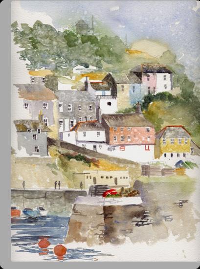 Mevagissey, Cornwall by artbyrachel