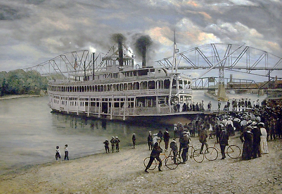 Mississippi Steamboat Landing by Dan Budde