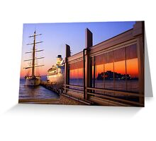Maritime Sunset Reflections Greeting Card