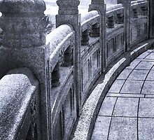 Temple at Ngong Ping by Karen Scrimes
