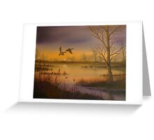 Dusk Departure Greeting Card
