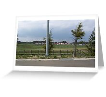 Horse Farm in Aomori (Towada area) Japan Greeting Card