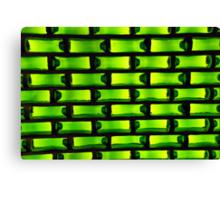 Green bottles Canvas Print