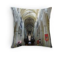 Beverley Minster - Aisle to the Altar Throw Pillow