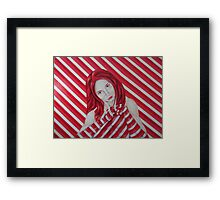 stripey Framed Print