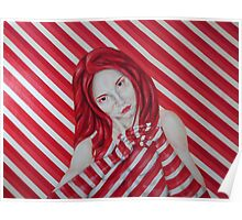 stripey Poster