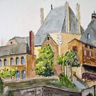 The French Watercolors:  Argenton-Chateau  by Phyllis Dixon