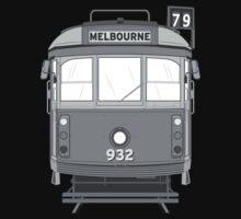 Melbourne Heritage Tram (B/W) by Matt Simner