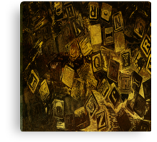 A Tumble of Blocks Canvas Print