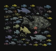Shoal of Fish T-Shirt by simpsonvisuals