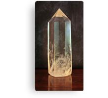 Clear Quartz Obelisk Canvas Print