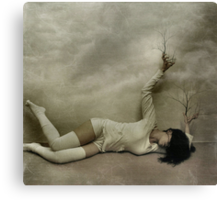 .even in death. Canvas Print