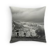 Stone hut, rural Ireland Throw Pillow