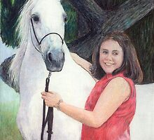Arabian Youth Halter Class Winner Portrait by Oldetimemercan