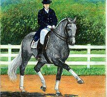 Belgian Warmblood Horse Portrait by Oldetimemercan