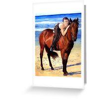 Arabian Horse On The Beach Portrait Greeting Card