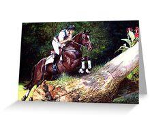 Trakehner Eventing Horse Portrait Greeting Card