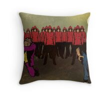 As Their Numbers Grew In Size It Became Obvious To Us All Exactly What They Were After Throw Pillow