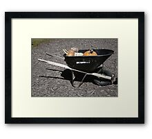 Burt's Wheelbarrow Framed Print