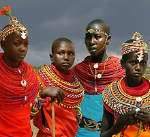 SAMBURU GIRLS - KENYA by Michael Sheridan