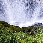 Behing the Waterfall by ElidArt