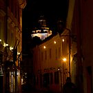 Ghost at night street (My city) by Antanas